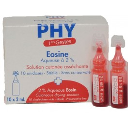 Eosine a 2% uni doses de 2ml / 10