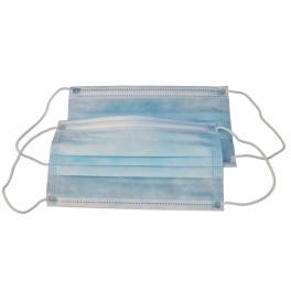 Masque Chirurgie AEROKYN Bleu 3 Plis avec elastique / BOITE 50 pcs